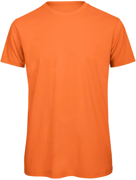 T-shirt bio Homme Orange